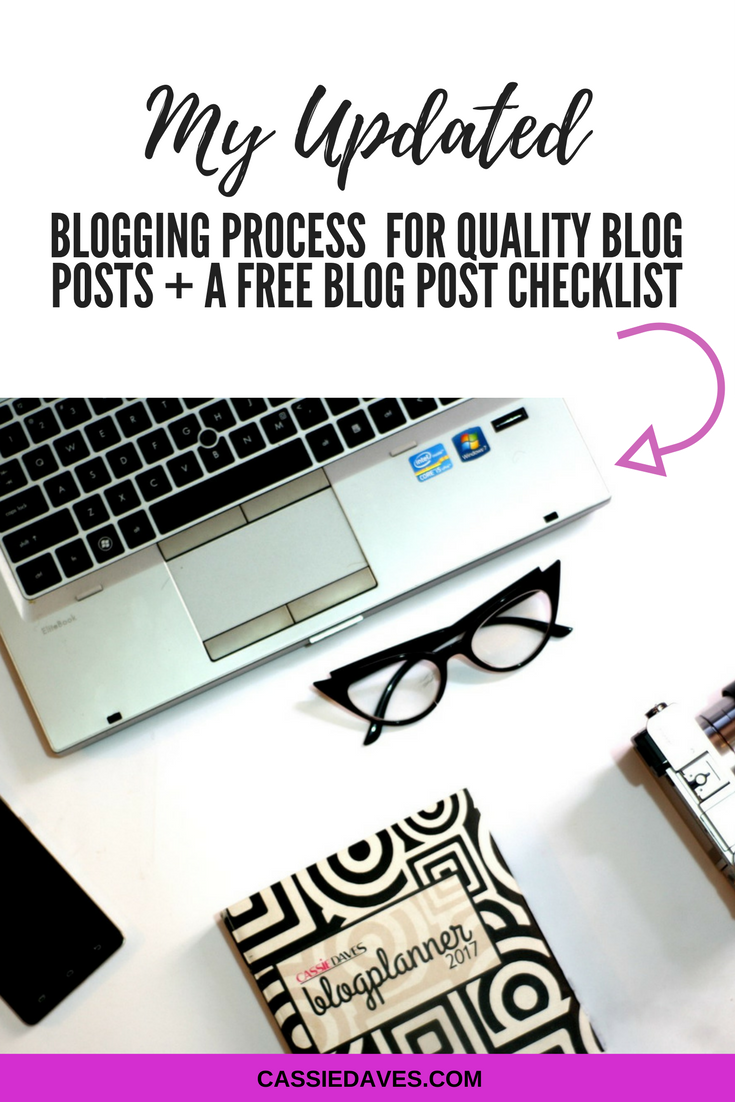 pintereste graphic image for my updated blogging process