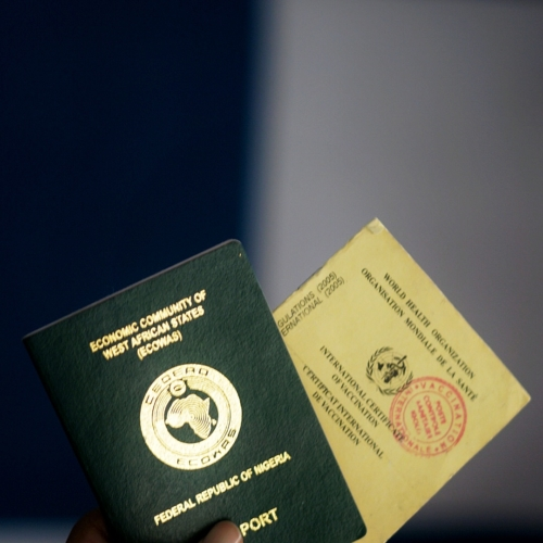 Nigeria Passport and Yellow Card For travelling