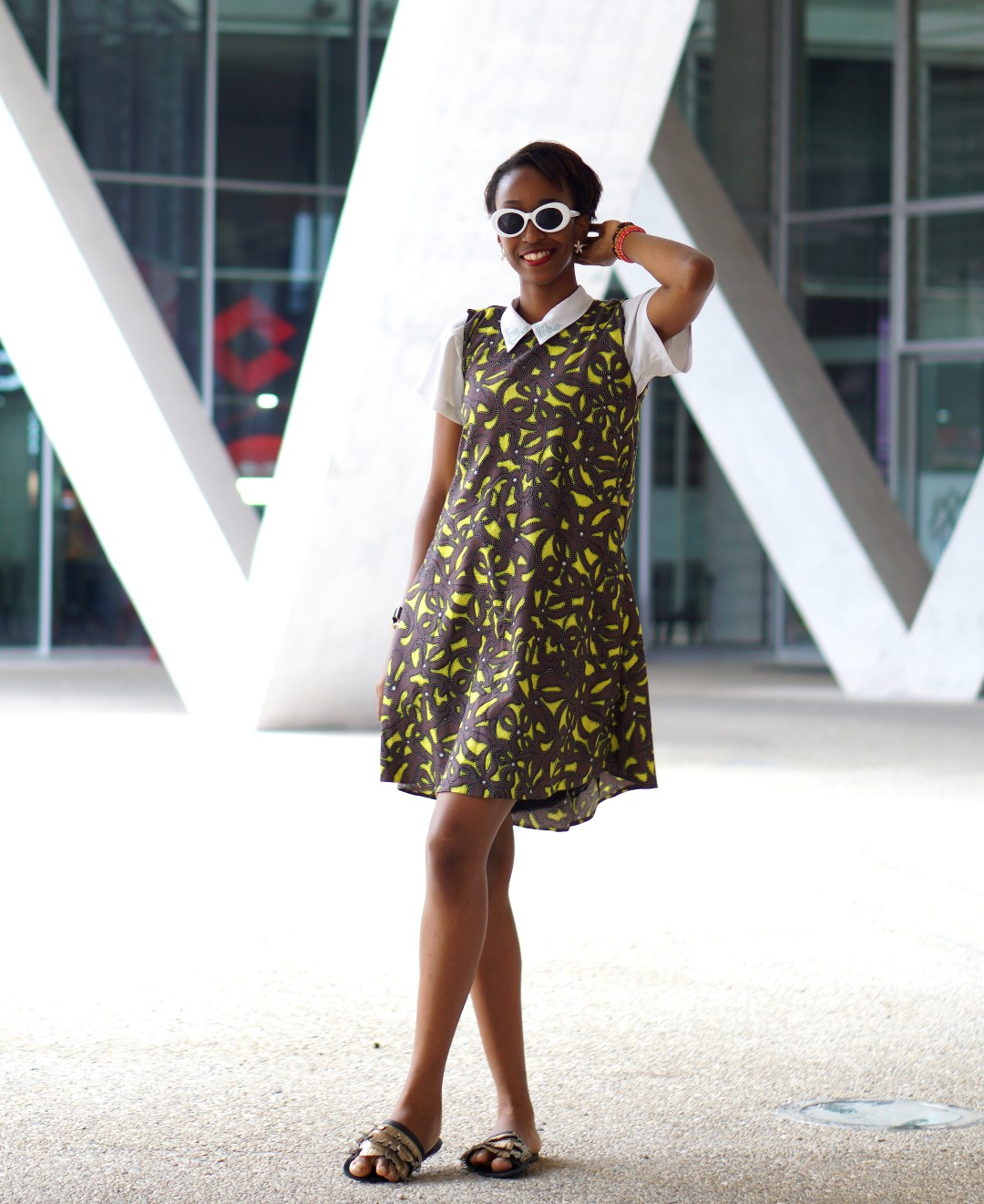 Cassie Daves, Fashion blogger in Ankara dress