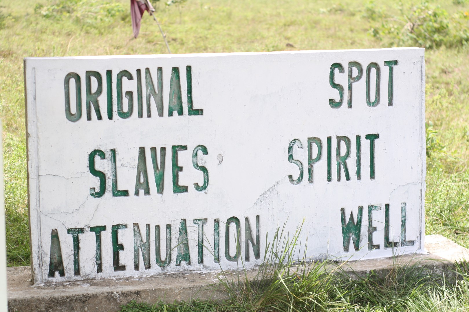 sign showing the original spot of the slaves spirit attenuation well in badagry, Lagos