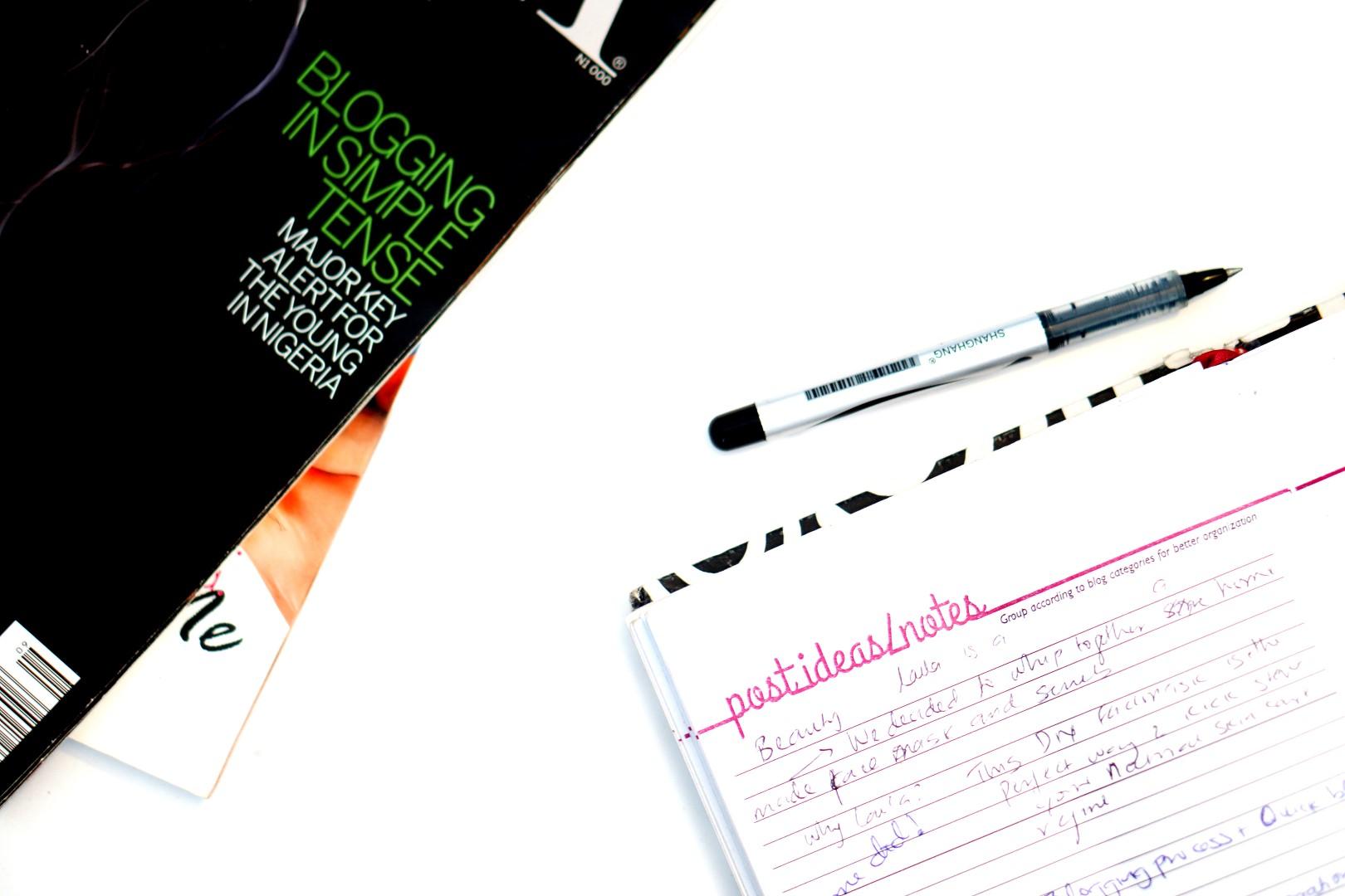 blogging process, cassie daves blog planner image for brainstorming blog posts ideas