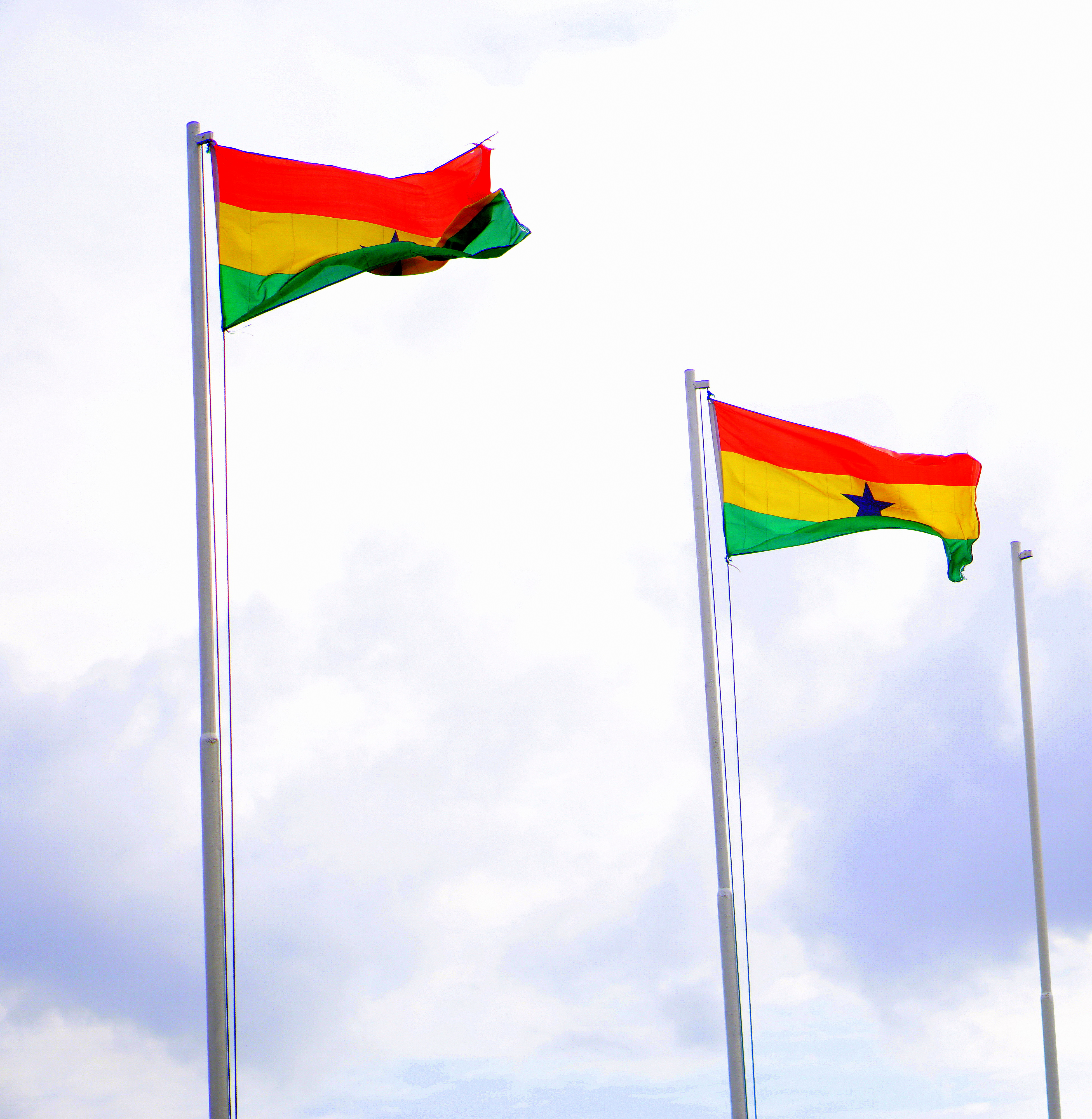 Picture of the Ghana flag on my road trip from Lagos to ghana by road