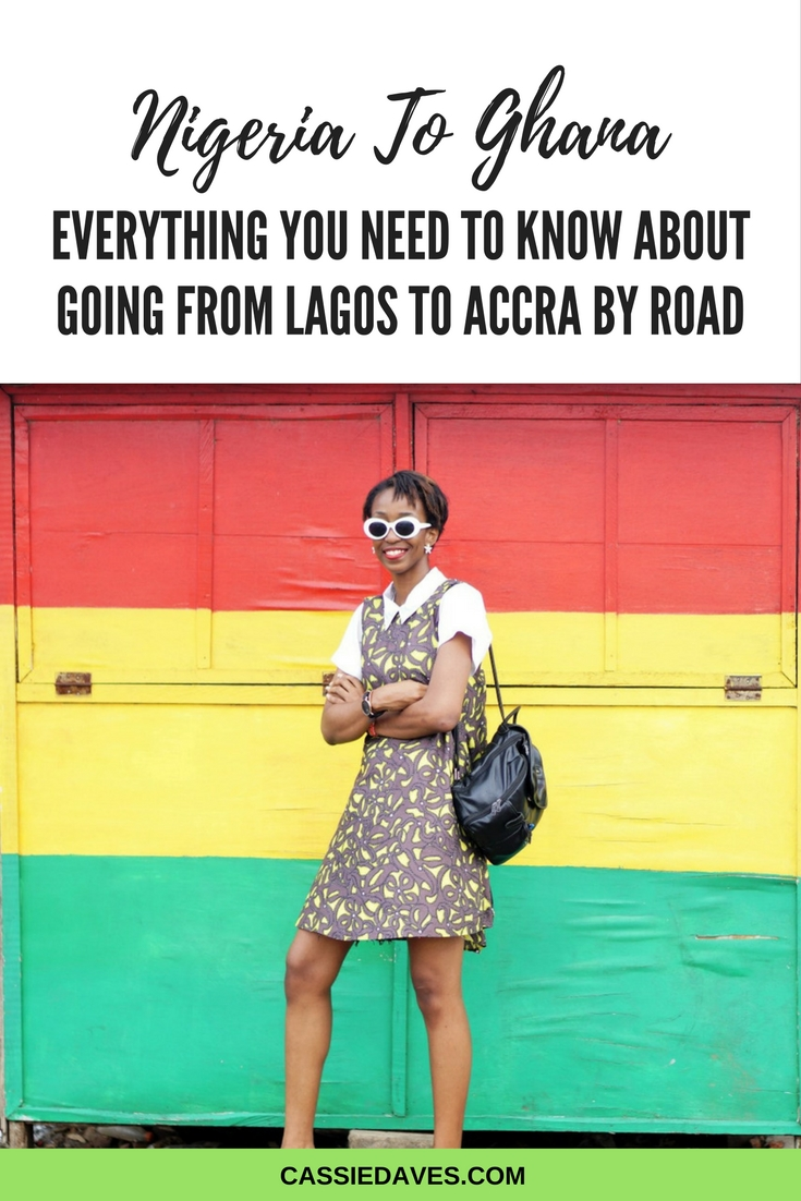 pinterest graphic of how to to go from lagos to ghana by road