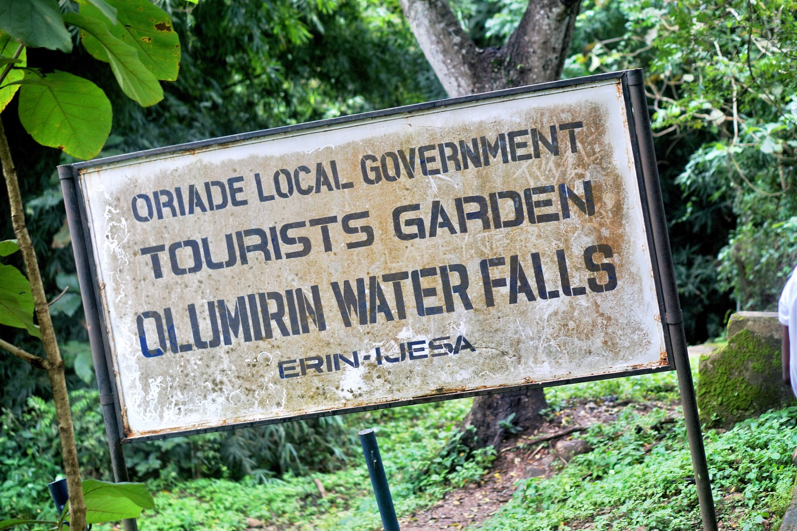 Sign showing entrance of Erin Ijesha waterfall