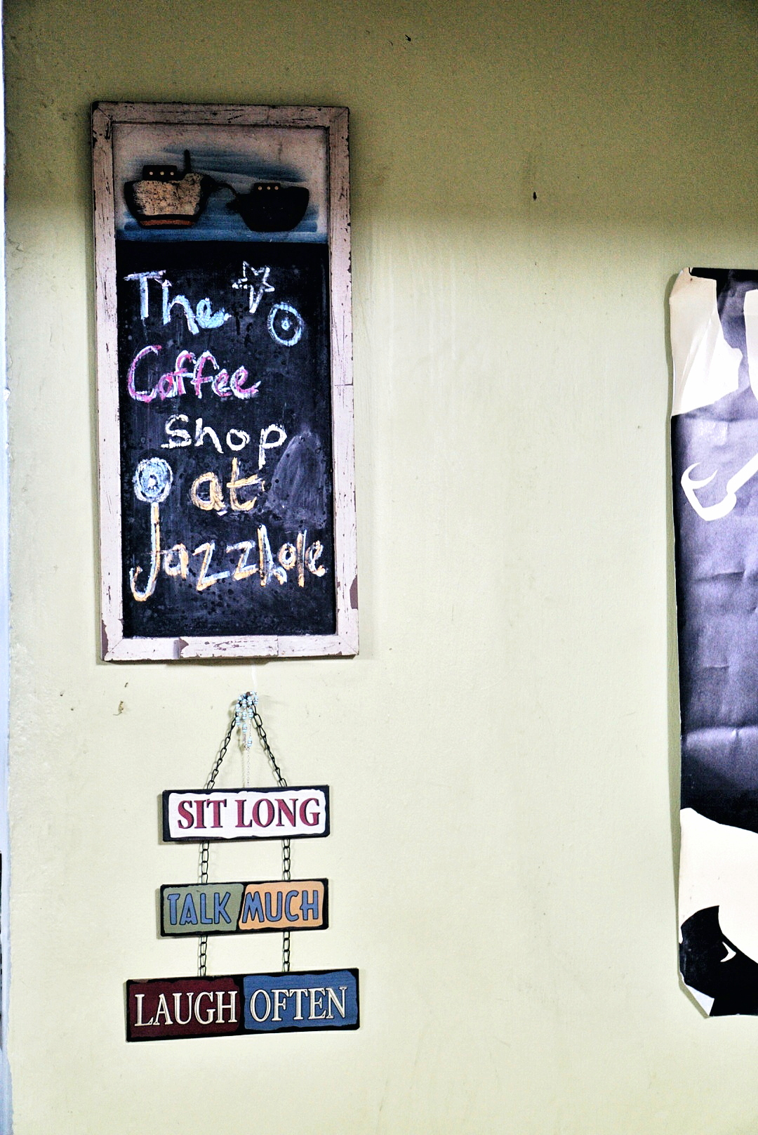 Coffee shop sign at jazzhole lagos