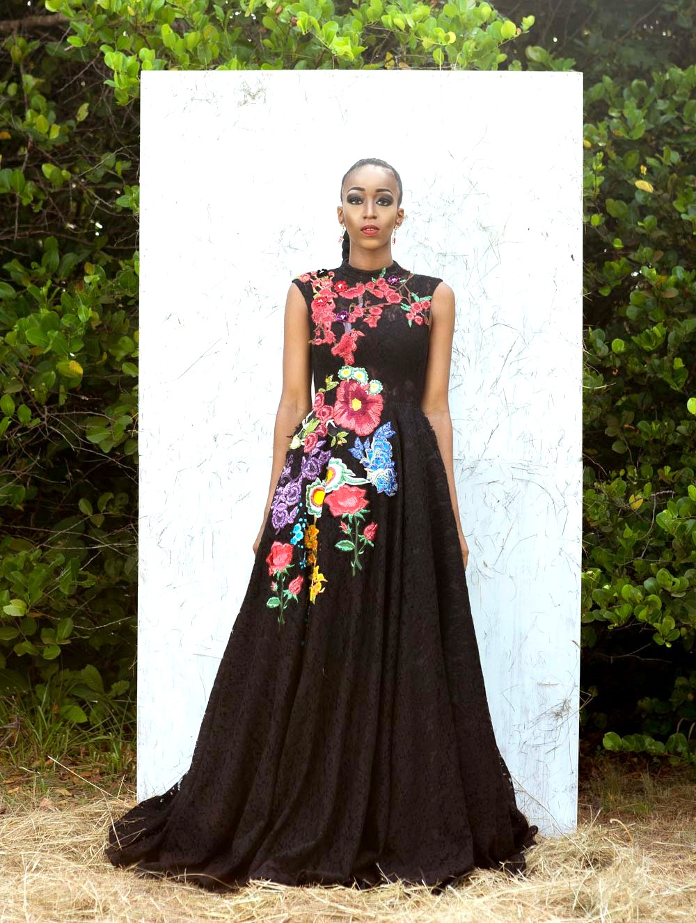 Cassie Daves for Nigerian fashion brand Moofa Designs