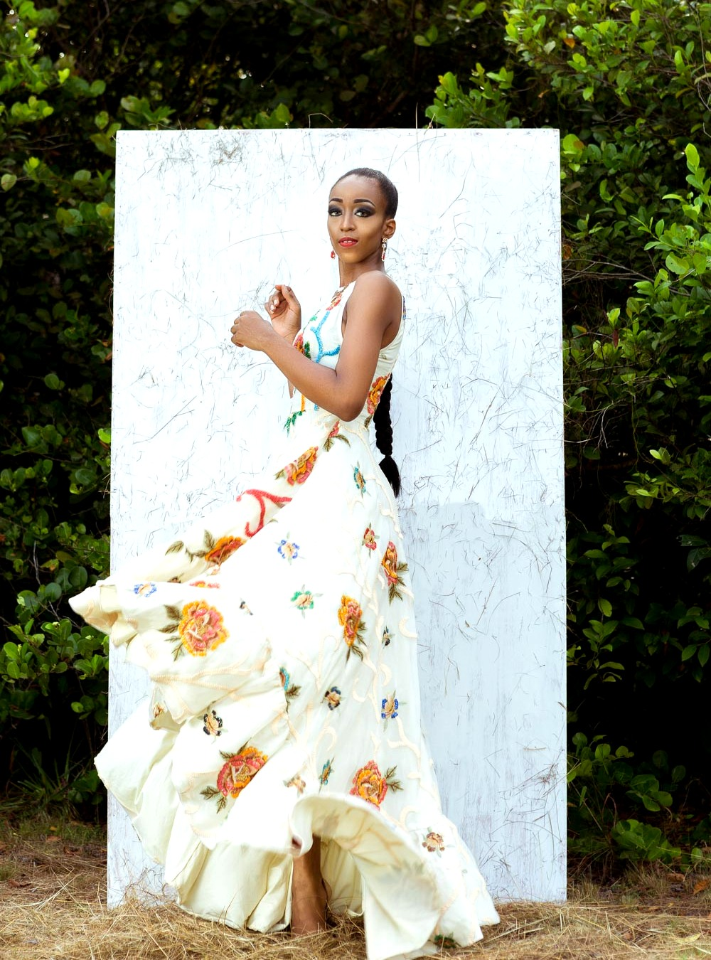 Nigerian model Cassie Daves for Moofa designs