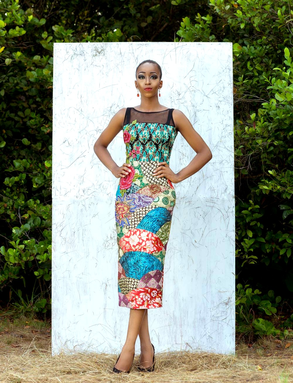 Nigerian model Cassie Daves for Moofa designs lookbook