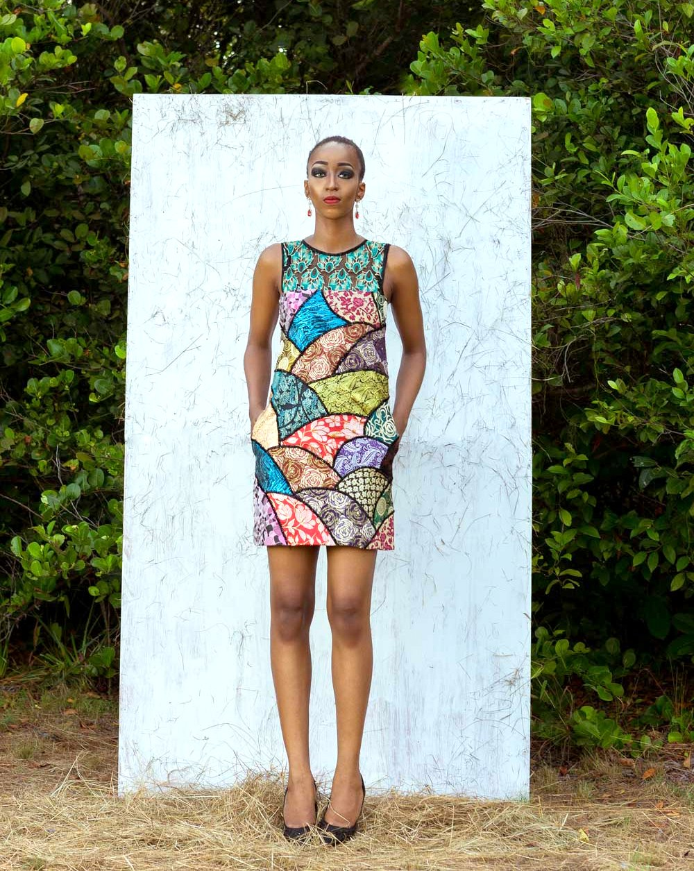Nigerian fashion blogger and model Cassie Daves for Moofa designs