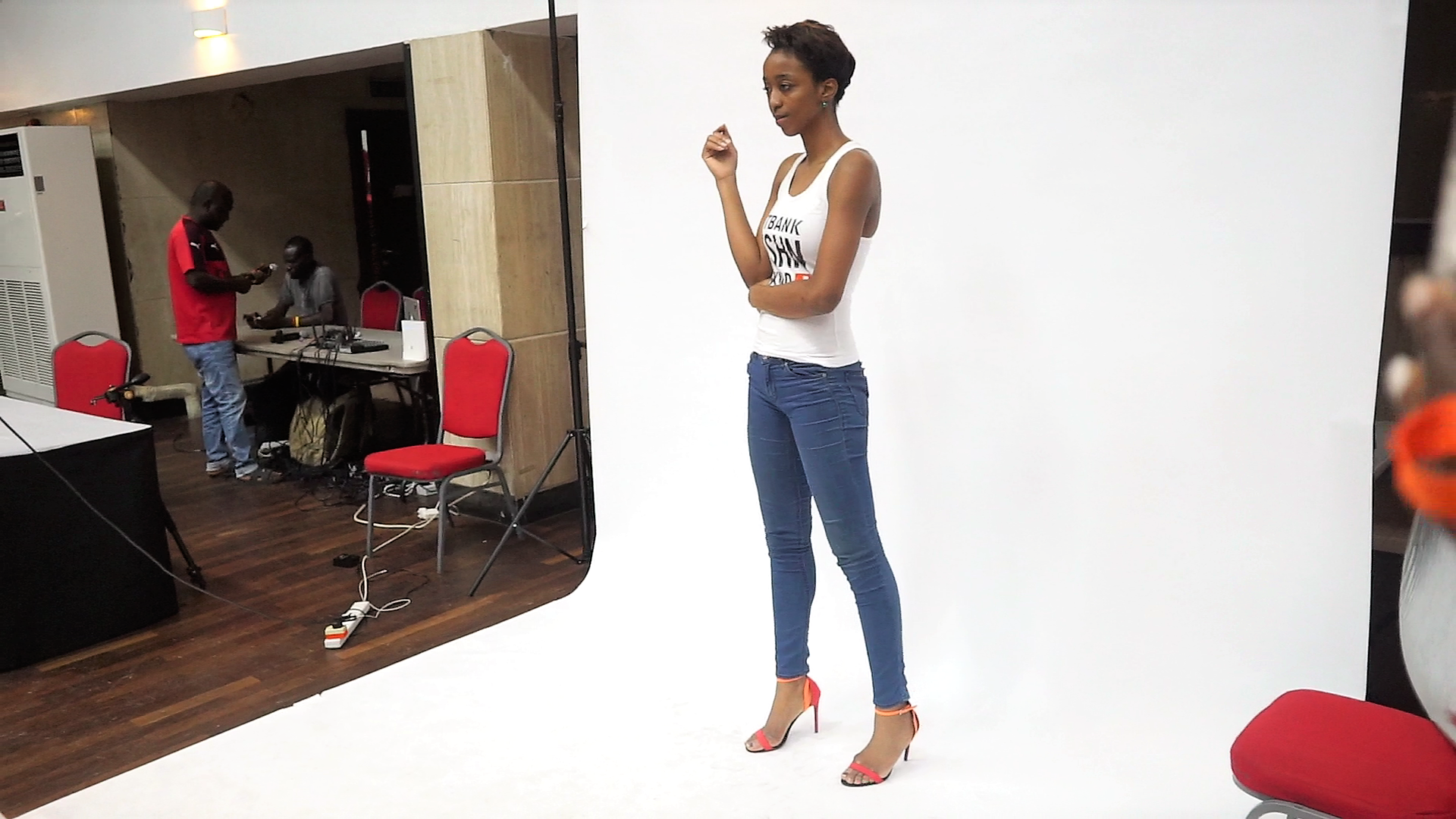 cassie daves at gtbank fashion weekend model casting