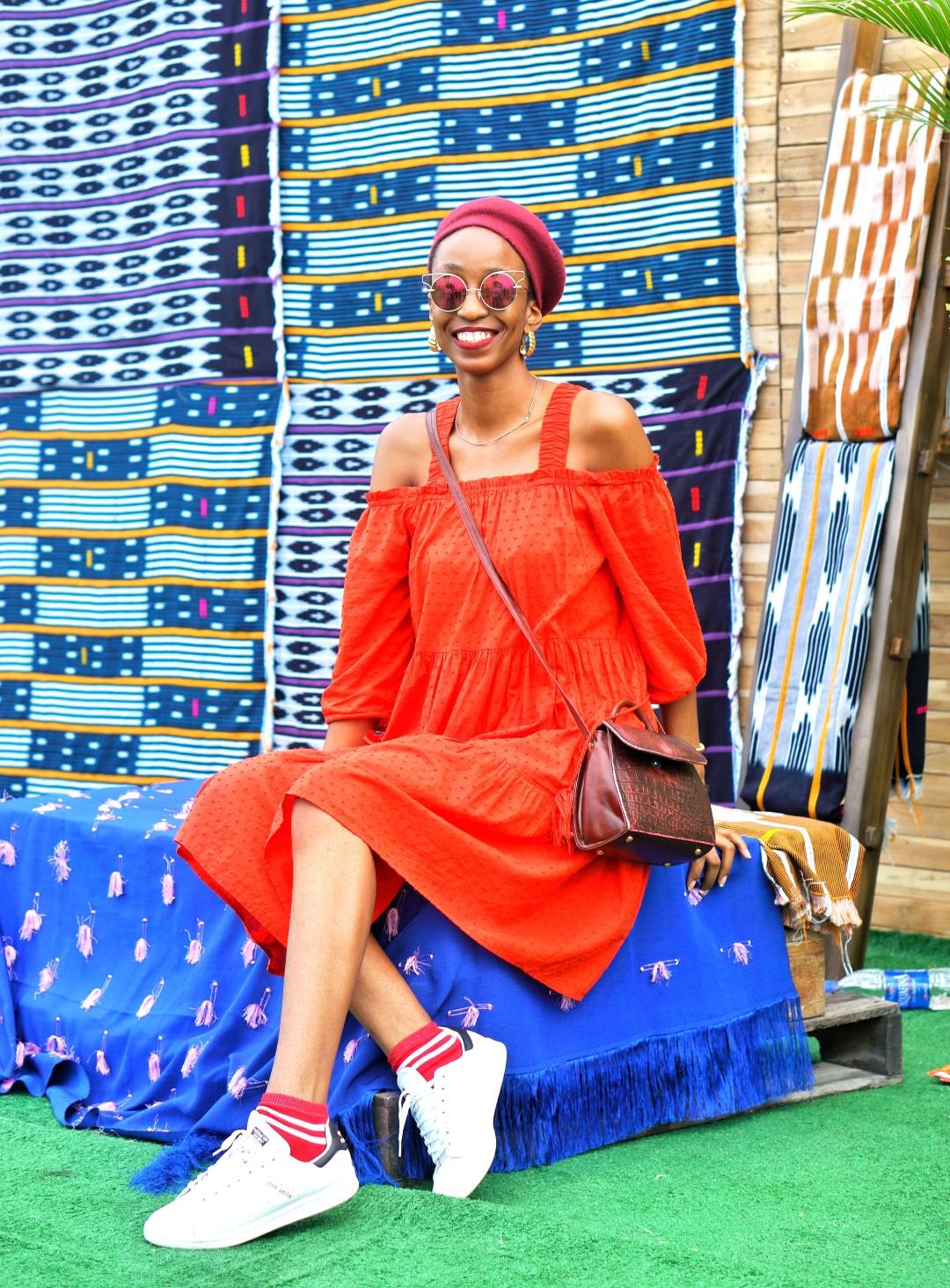 Nigerian blogger Cassie Daves rocking the beret fashion trend