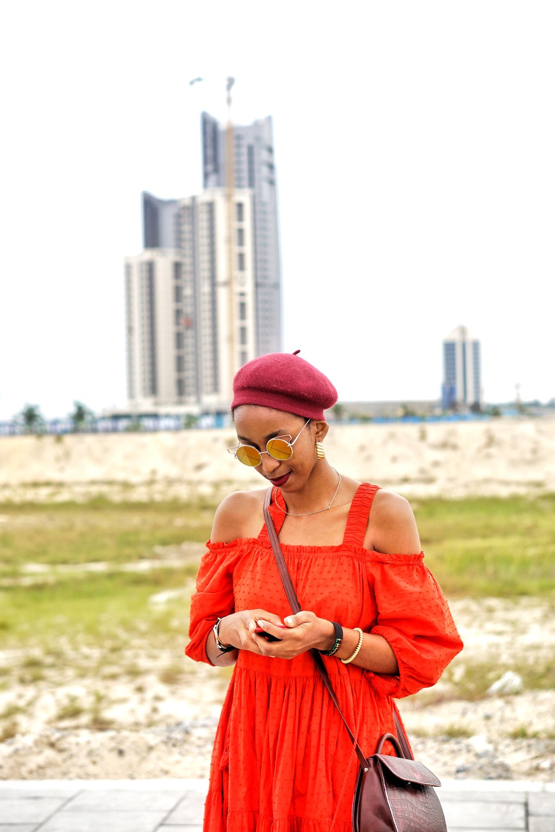 Nigerian fashion blogger Cassie Daves beret fashion trend for lfdw