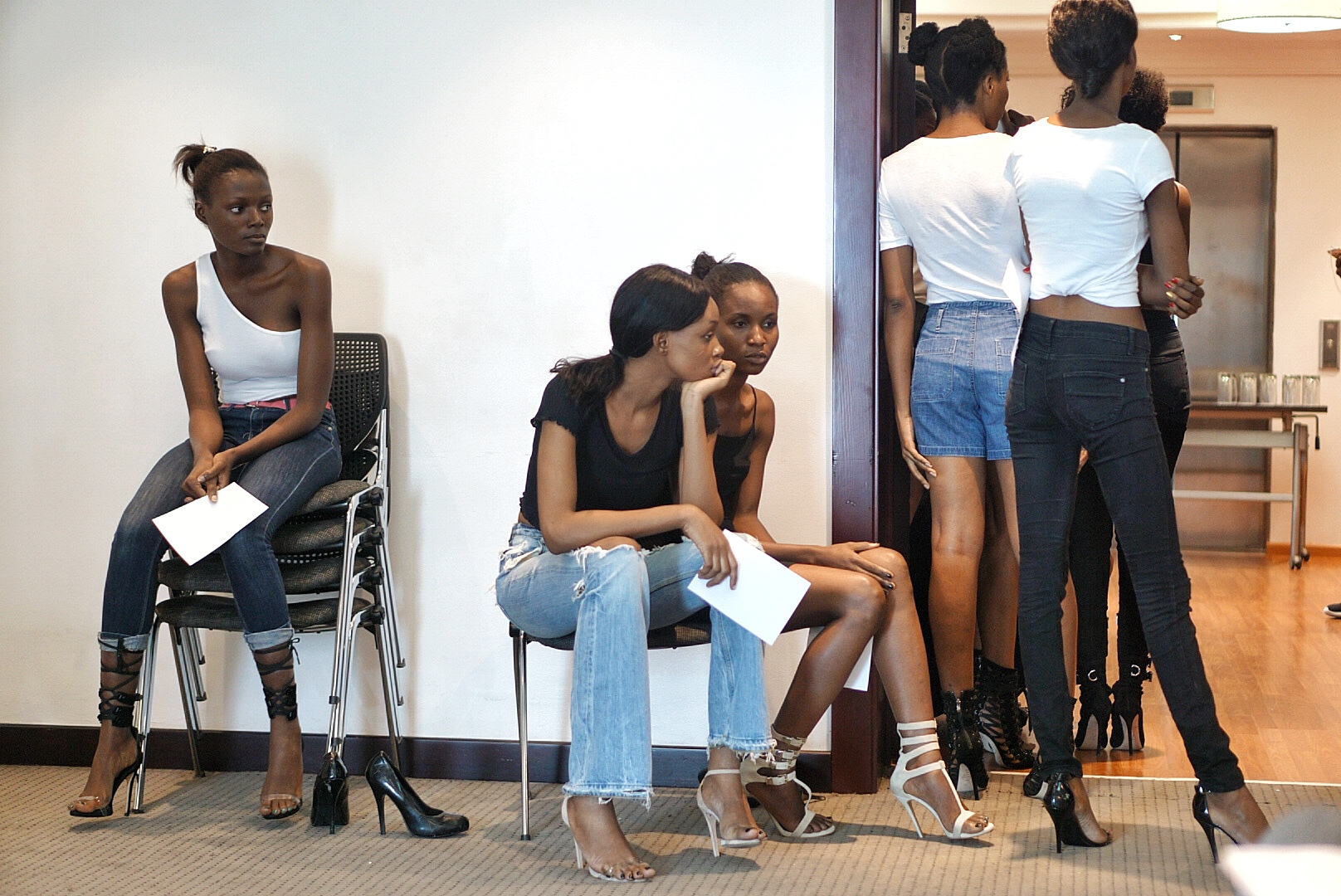 Models at gtbank fashion weekend casting 2017