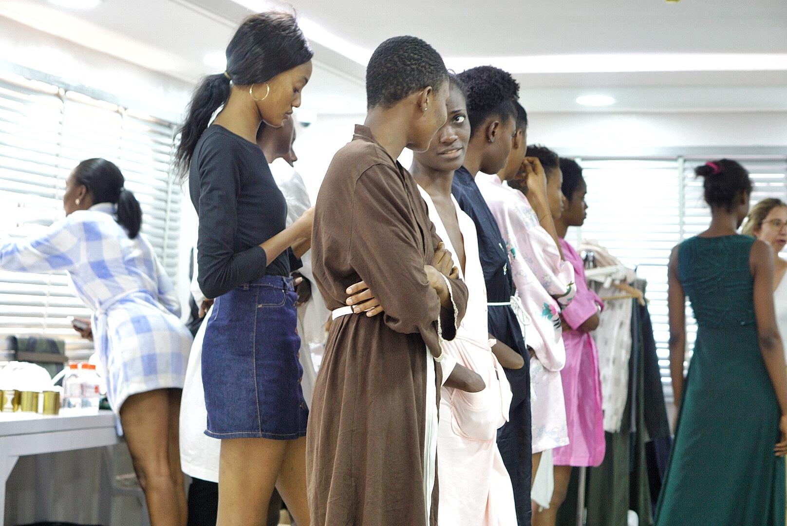 Models at gtbank fashion weekend 2017