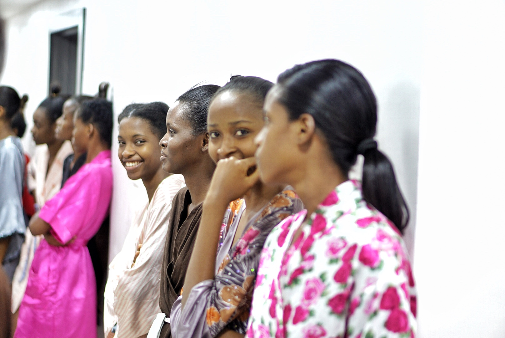Models in tone during fittings at gtbank fashion weekend 2017