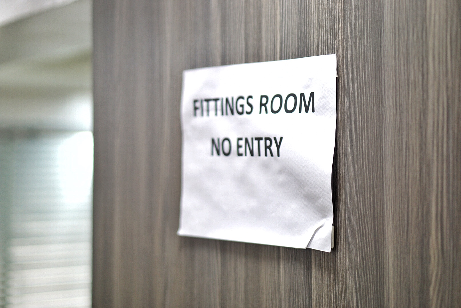 Fitting room no entry sign at gtbank fashion weekend