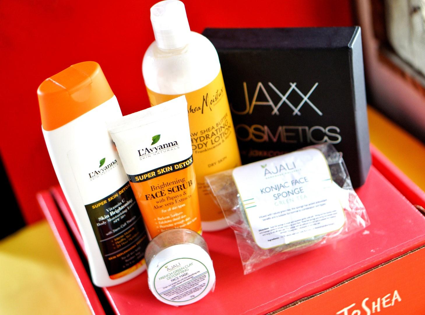 L'avyanna naturals super skin detox, jaxx cosmetics lipsticsk and ajali naturals products