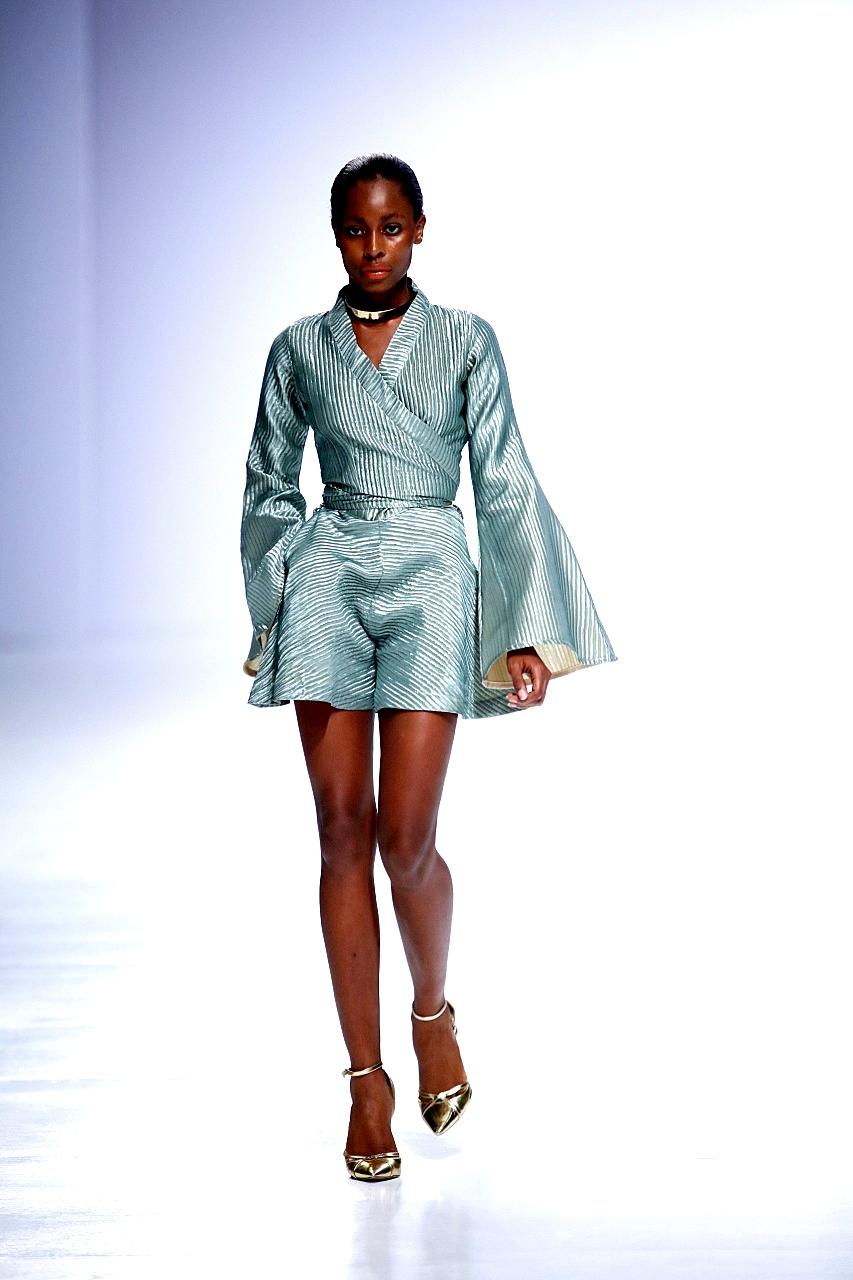 Designer Titi Belo at Lagos fashion week (LFDW 2017)