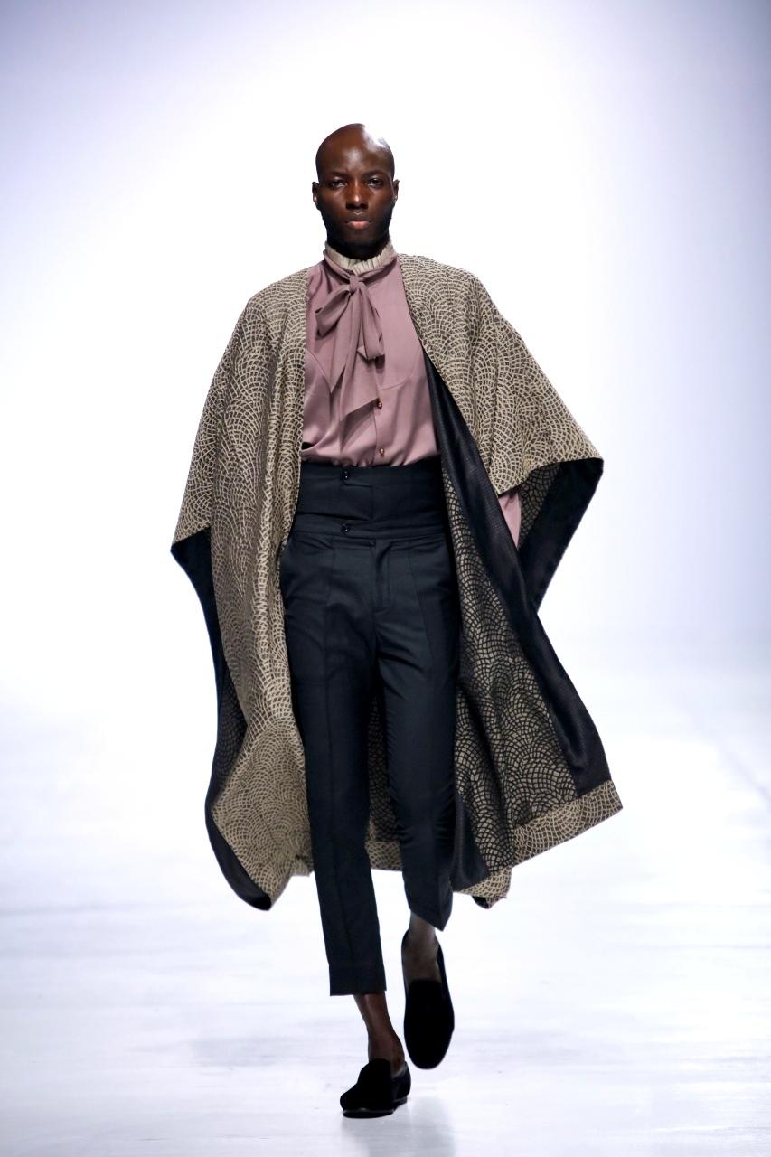 Designer Ugo Monye at Lagos fashion week (LFDW 2017)