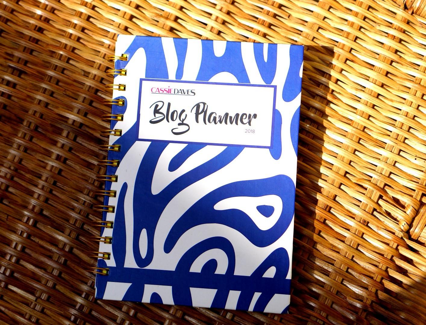 cassie daves planner 2018 blue cover design