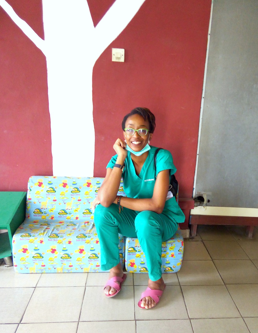 Med doctor Cassandra Ikegbune at the oncology ward in LUTH
