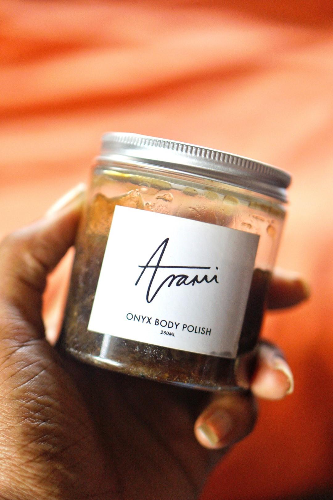 Arami essentials onyx body polish