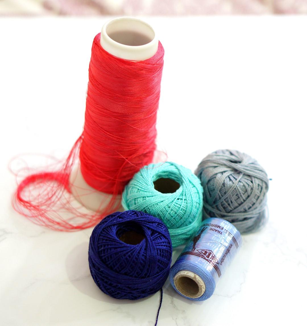 tassel earrings trend diy - embroidery threads