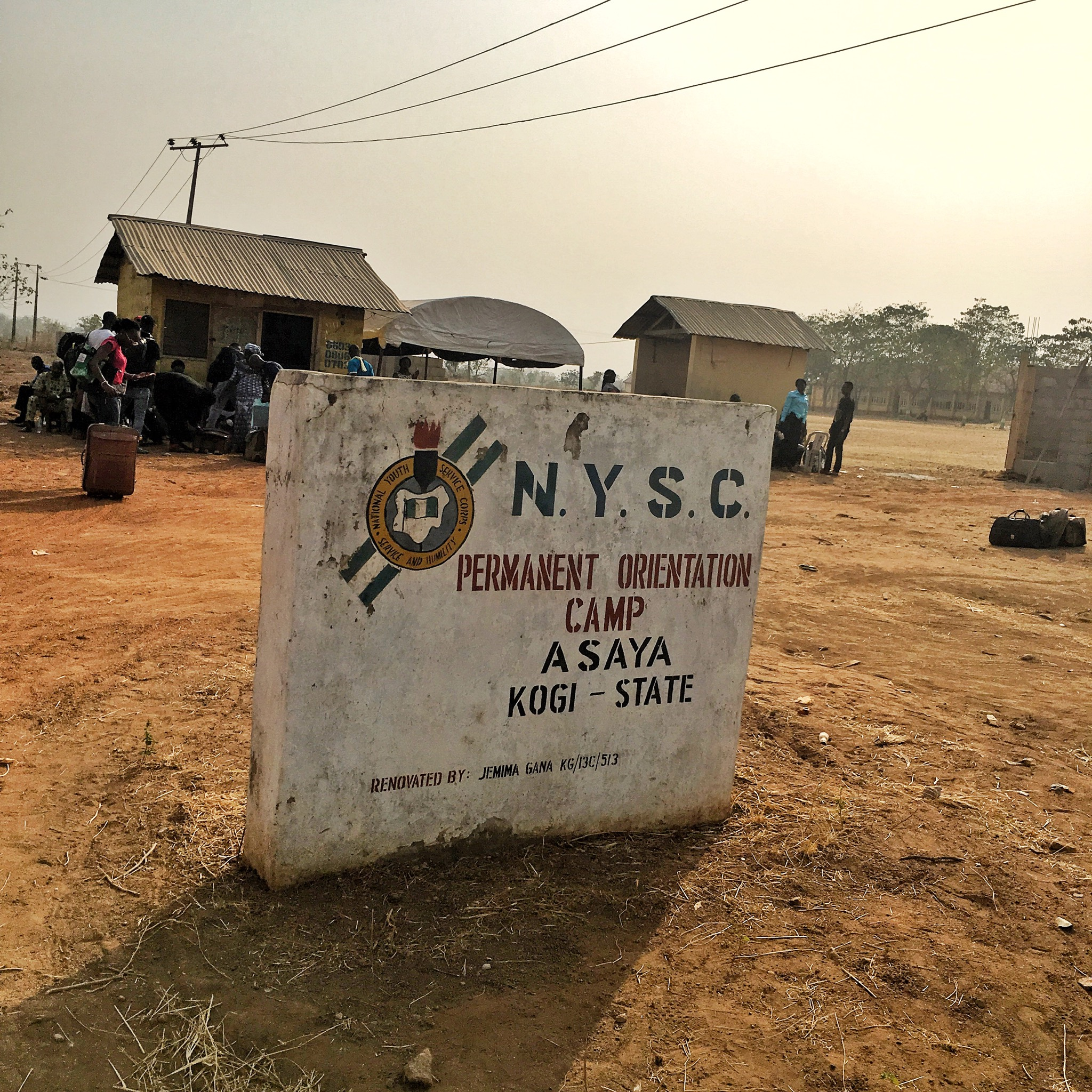 my nysc camp experience - asaya orientation camp sign