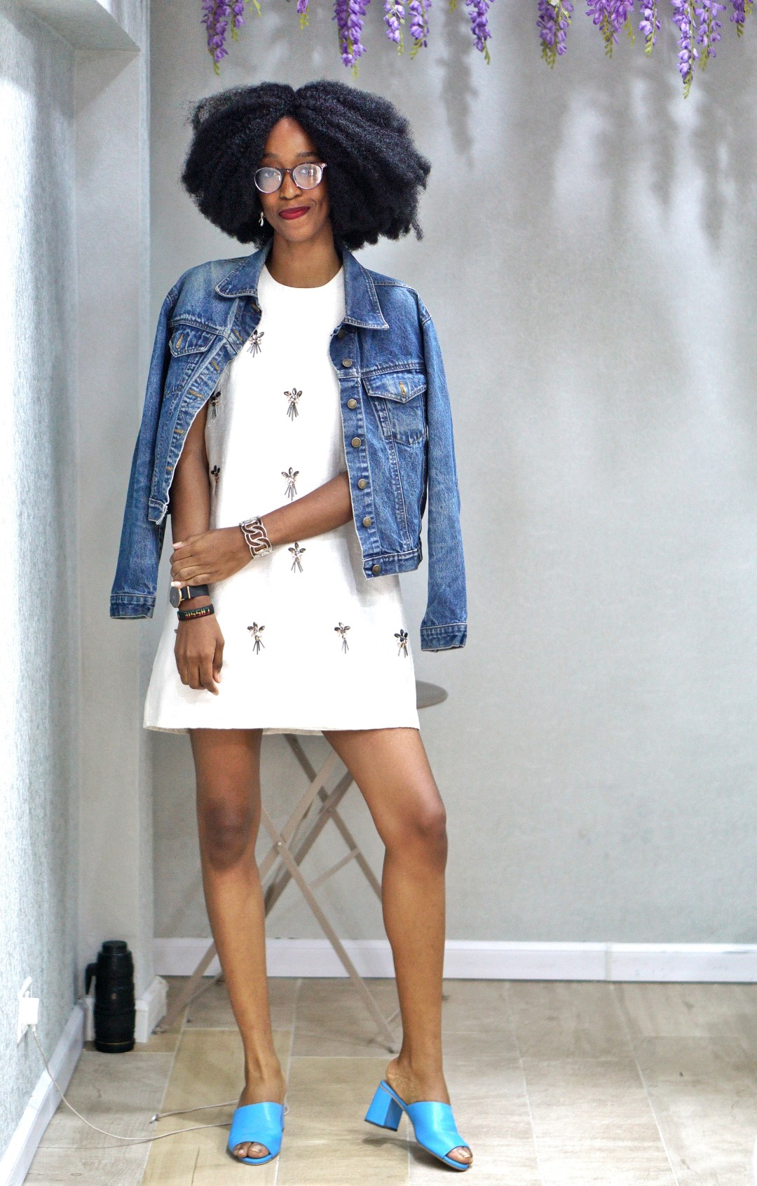 Nigerian Blogger Cassie Daves styling topshop shift dress