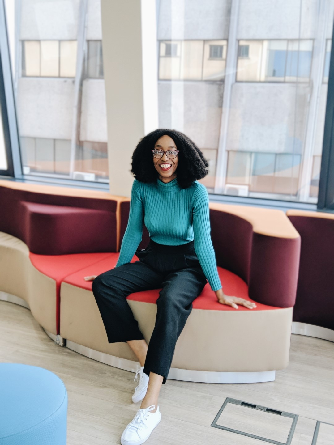 Cassie Daves Nigerian blogger in turtle neck and skirt outfit - workwear essentials